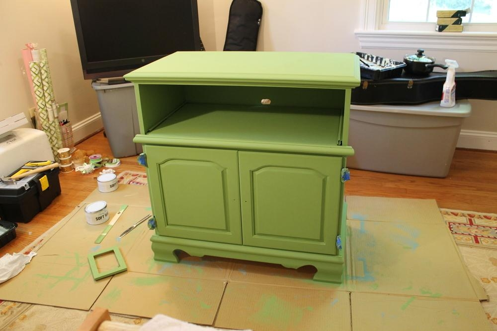 Green Tv Stand — Alyson Johnson Creative In Newest Green Tv Stands (View 9 of 20)