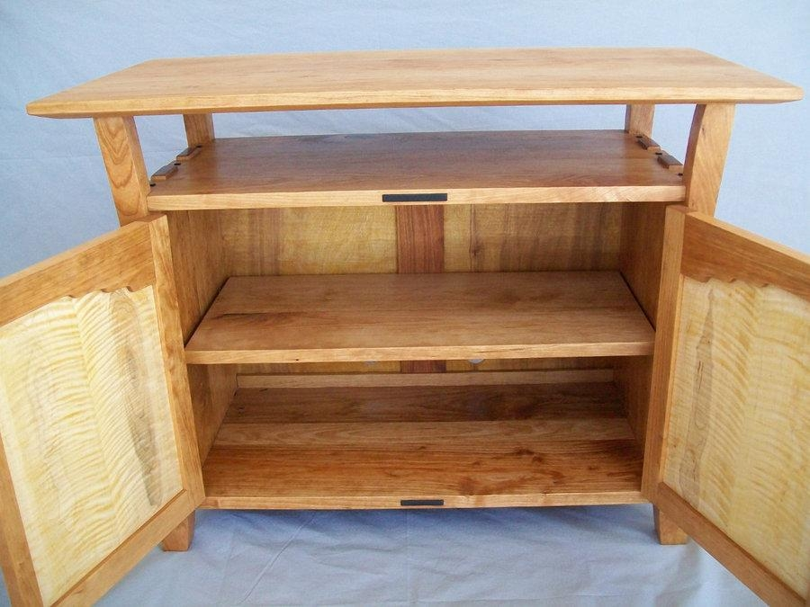 Greene And Greene Style, Cherry And Tiger Maple Tv Cabinet – With Regard To Latest Maple Tv Cabinets (Image 5 of 20)