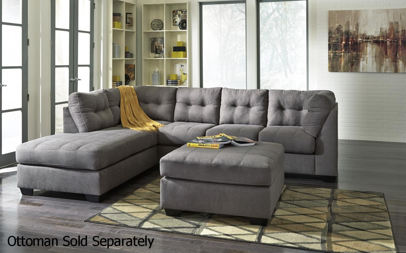 Grey Fabric Sectional Sofa – Steal A Sofa Furniture Outlet Los Regarding Cloth Sectional Sofas (View 5 of 21)