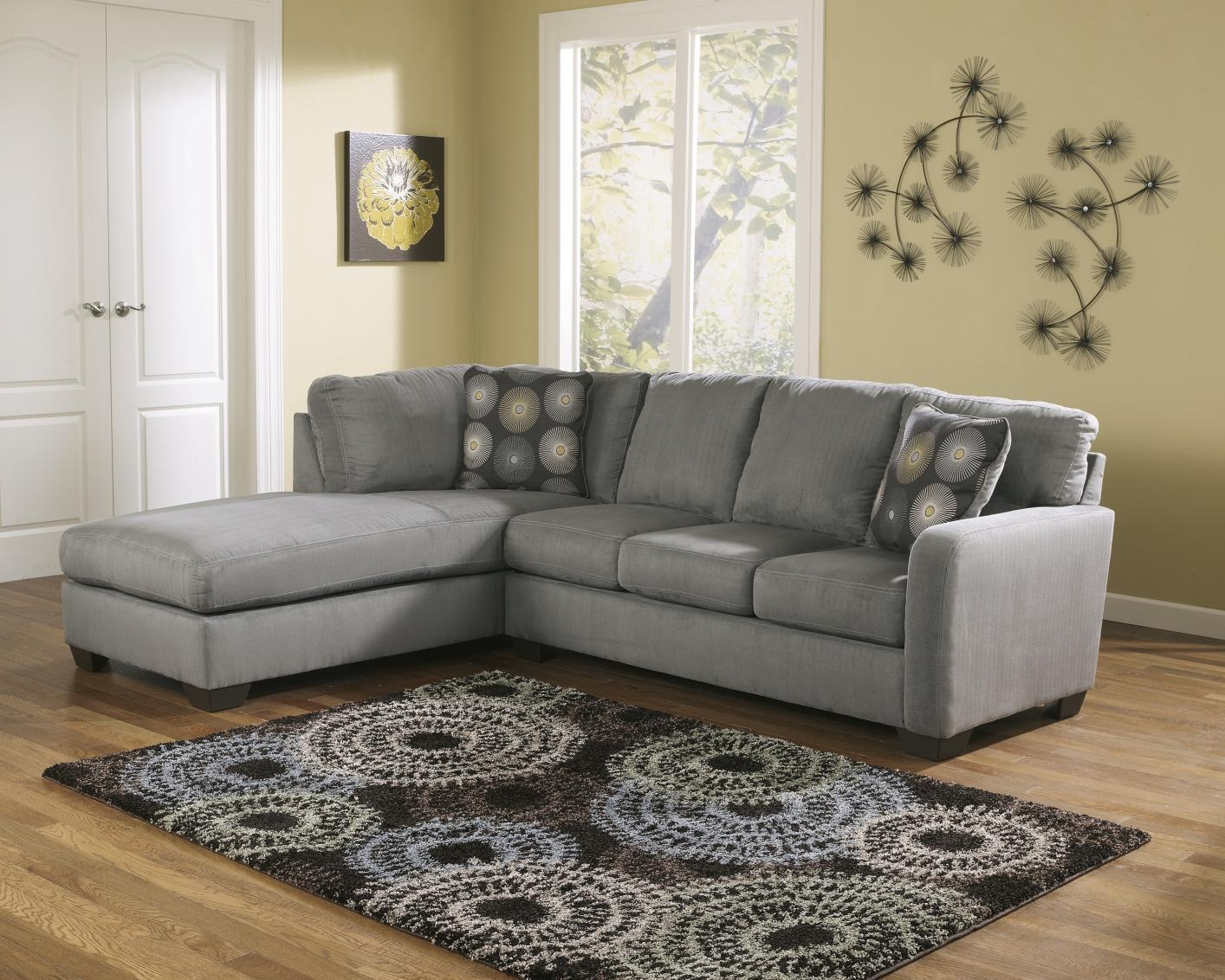Grey Fabric Sectional Sofa – Steal A Sofa Furniture Outlet Los With Cloth Sectional Sofas (View 12 of 21)