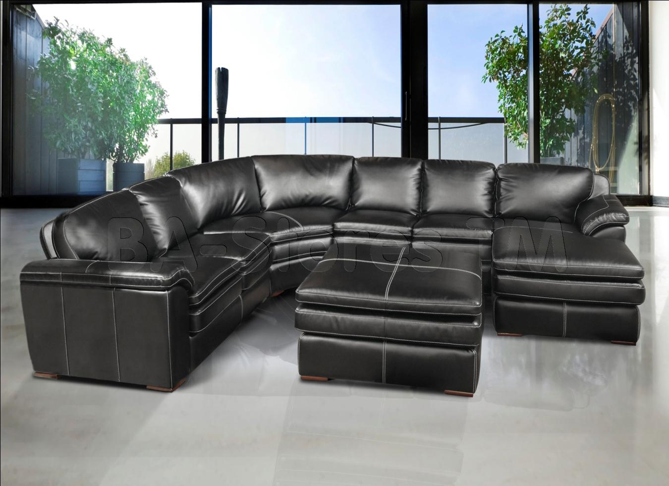 Grey Leather Sectional Sofa – Sofas With Regard To Gray Leather Sectional Sofas (Image 13 of 21)