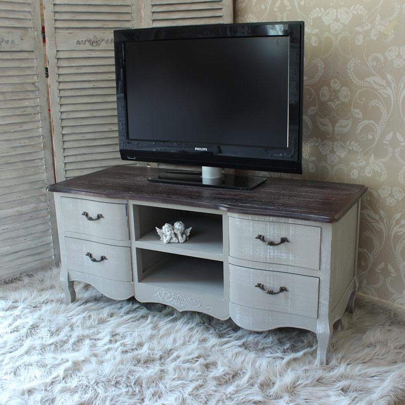 Grey Tv Unit – Melody Maison® With Regard To Most Current French Tv Cabinets (Image 14 of 20)