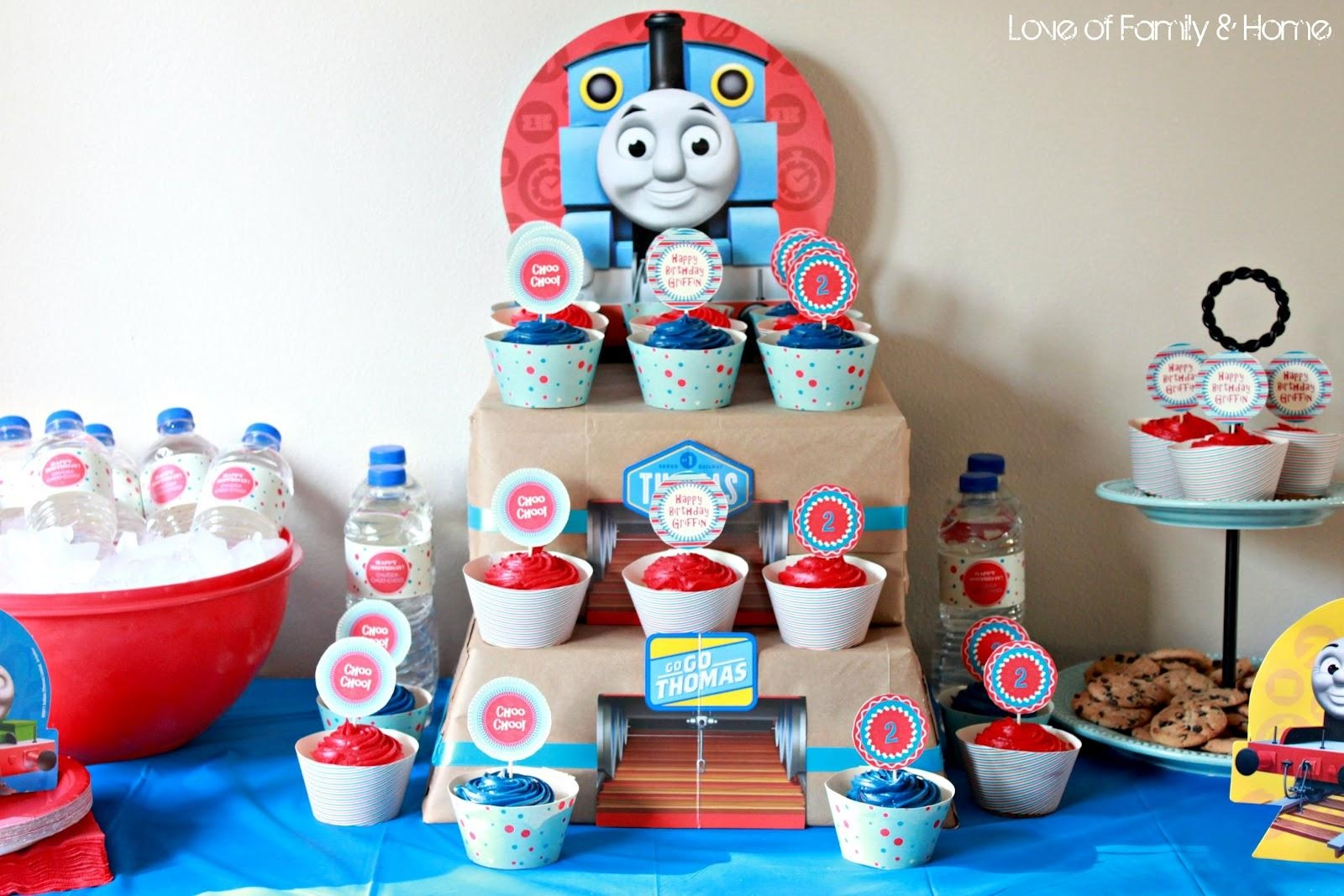 Griffin Turns 2Thomas The Train Birthday Party – Love Of Family With Regard To Thomas The Tank Wall Art (Image 7 of 20)