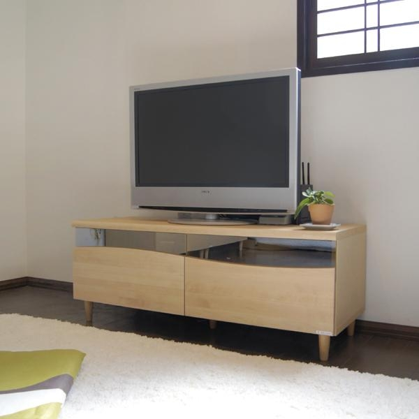 Grove | Rakuten Global Market: Es Tv Stand 120 Cm Snack Lowboard For Most Current Birch Tv Stands (View 3 of 20)