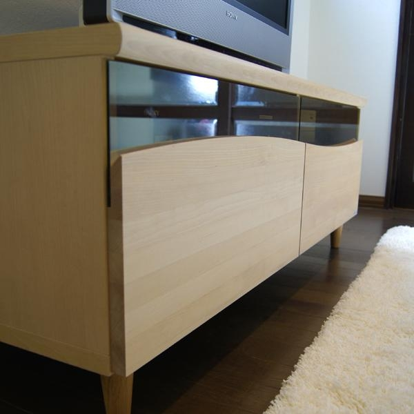 Grove | Rakuten Global Market: Es Tv Stand 120 Cm Snack Lowboard With Most Recent Birch Tv Stands (View 2 of 20)