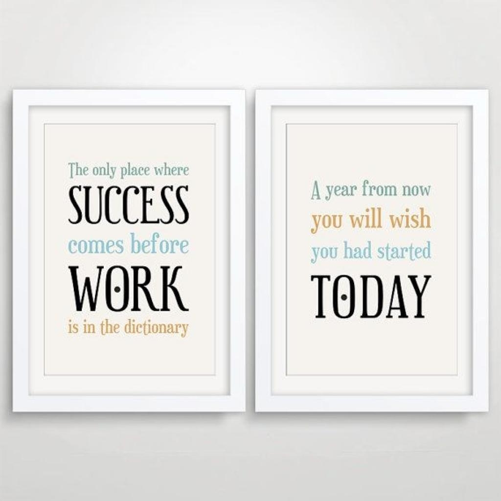 Hallway Is A Bitch 5×7 Inspirational Quote Print / Inspiring Wall In Motivational Wall Art For Office (View 11 of 20)
