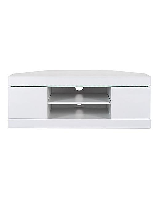 Halo High Gloss Corner Tv Unit | J D Williams Inside Most Recently Released Corner Tv Unit White Gloss (View 7 of 20)