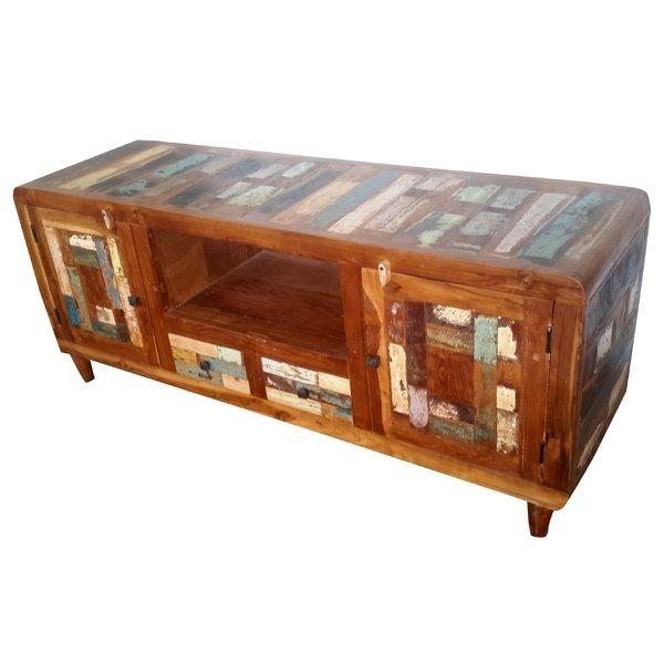 Hand Painted Tv Stand | Wayfair Within Most Popular Painted Tv Stands (Image 11 of 20)