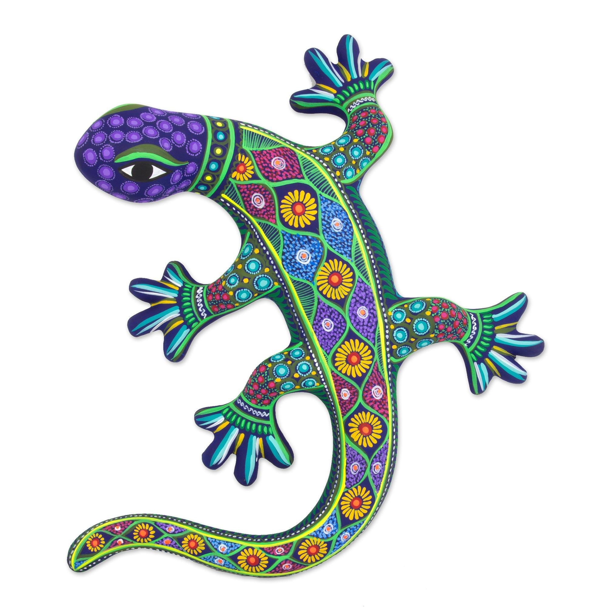 Handcrafted Ceramic Lizard Wall Art From Mexico – Desert Lizard Within Mexican Ceramic Wall Art (Image 5 of 20)