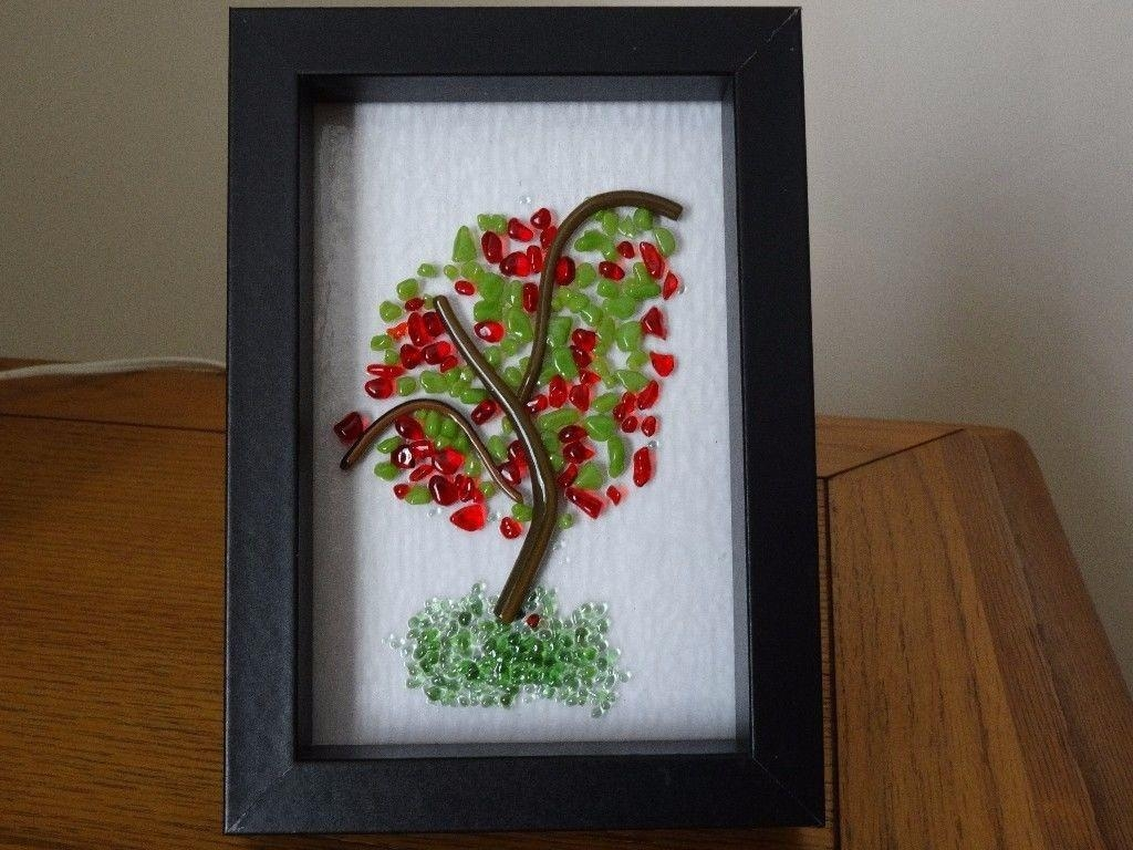 Handmade Fused Glass Framed Wall Art | In Powys | Gumtree Throughout Framed Fused Glass Wall Art (View 14 of 20)