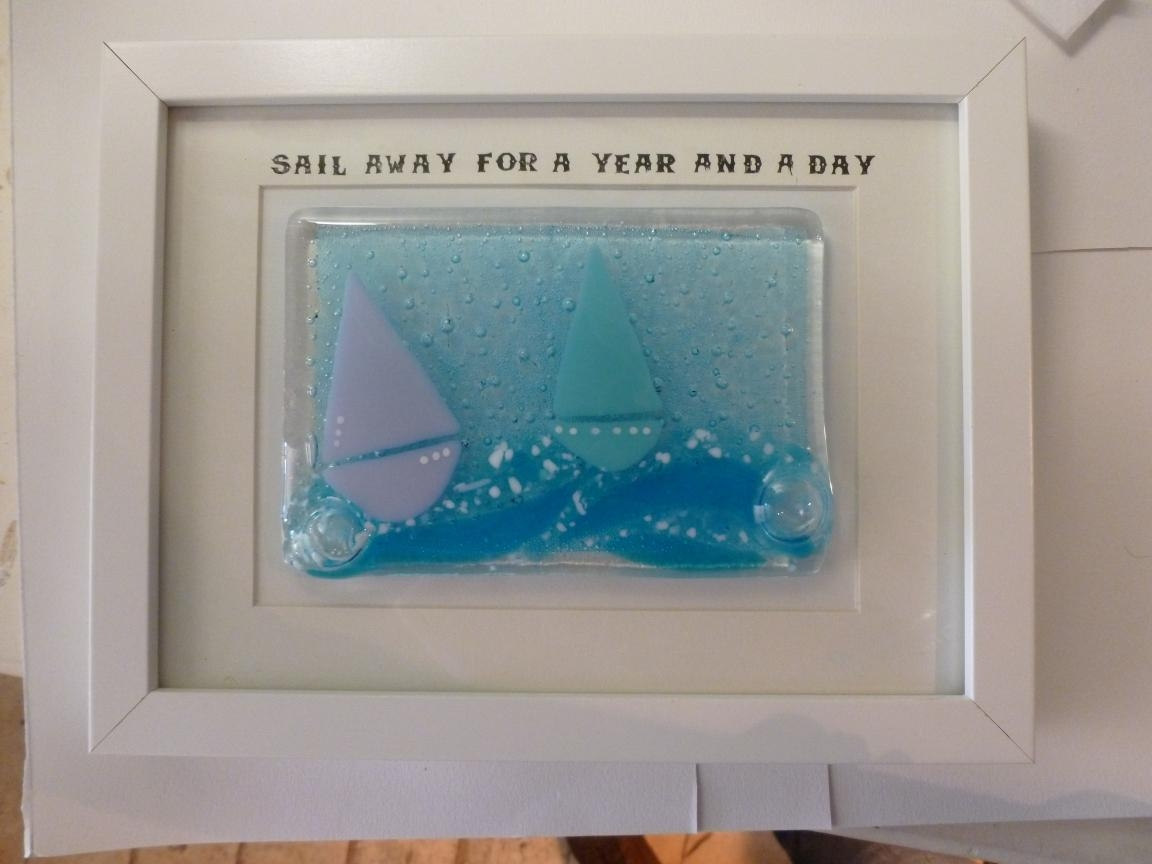 Handmade Glass Tutorial | Being Beside The Seaside… Regarding Framed Fused Glass Wall Art (View 6 of 20)