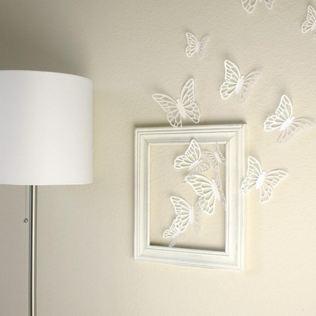 Handmade Heat/torch Colored Metal Butterfly,homedecor,garden,wall In White Metal Butterfly Wall Art (Image 8 of 20)