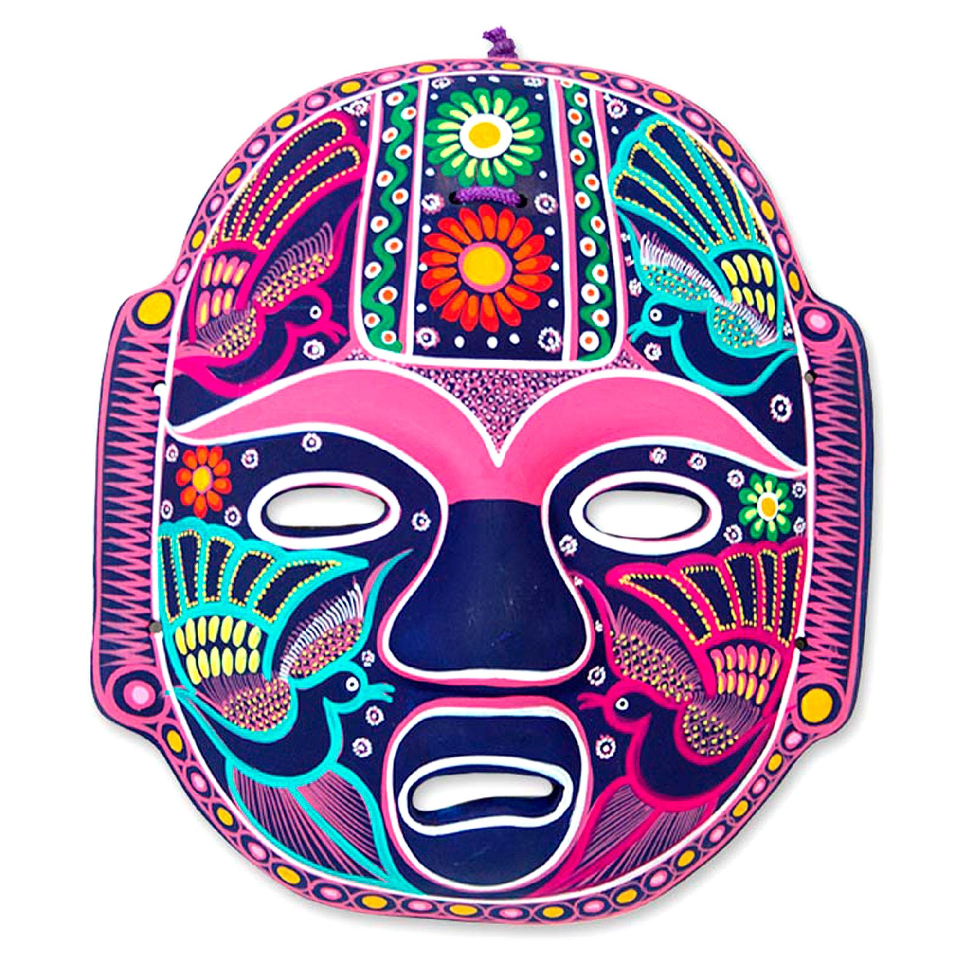 Handmade Mexican Folk Art Ceramic Wall Mask – Carnival Olmeca | Novica Regarding Mexican Ceramic Wall Art (Image 6 of 20)