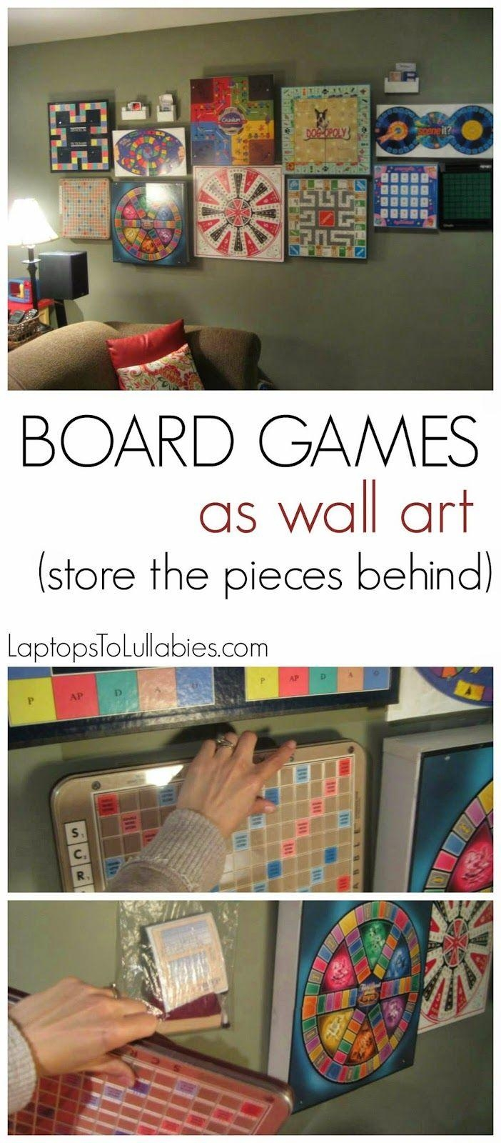 Hang Your Collection Of Board Games On The Tutorial: Turn Board With Board Game Wall Art (Image 13 of 20)