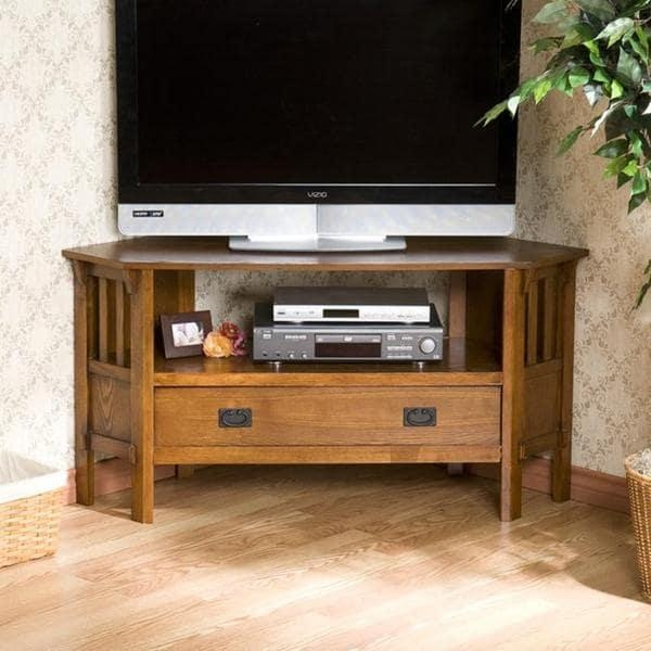 Harper Blvd Chenton Oak Corner Tv Stand – Free Shipping Today In Latest Oak Corner Tv Stands (Image 10 of 20)