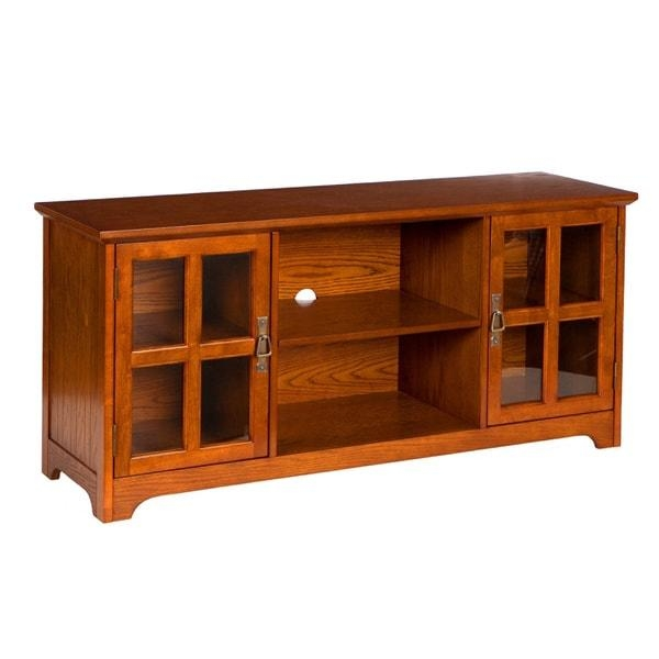 Harper Blvd Highland Mission Oak Tv Stand – Free Shipping Today Intended For Current Oak Tv Stands (Image 8 of 20)