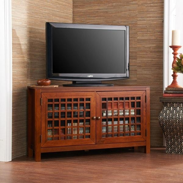 Harper Blvd Hurley Walnut Corner Tv Stand – Free Shipping Today Within Most Popular Walnut Corner Tv Stands (Image 11 of 20)