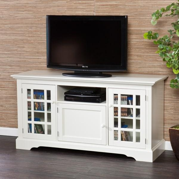 Harper Blvd Trevorton White Tv Stand – Free Shipping Today Inside Newest Long White Tv Stands (Image 8 of 20)