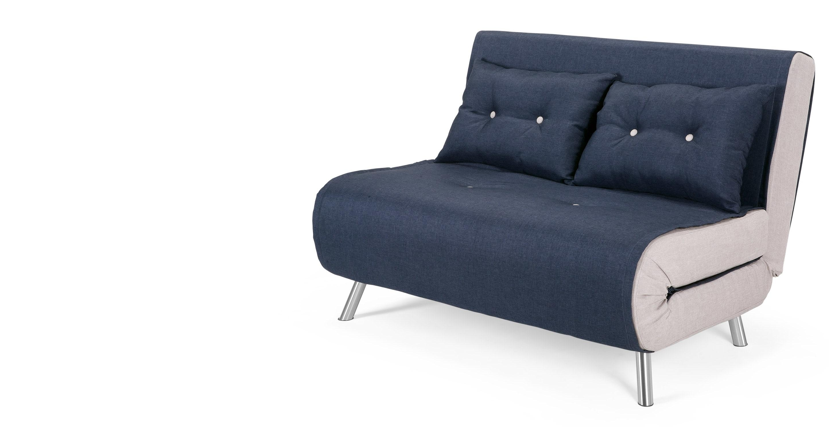 Haru Small Sofa Bed In Quartz Blue | Made With Mini Sofa Beds (View 4 of 20)