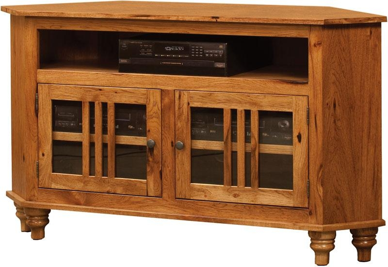 Harvest Corner Tv Cabinet | Indiana Amish Tv Cabinet | Custom Wood Within Most Up To Date Large Corner Tv Cabinets (Image 12 of 20)