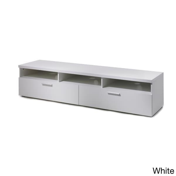 Hayward 71 Inch Wood Tv Stand – Free Shipping Today – Overstock Inside Most Recent White Wood Tv Stands (Image 9 of 20)