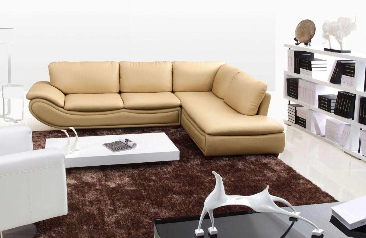 He 917 Modern Leather Sectional Sofa | Leather Sectionals Inside Cream Sectional Leather Sofas (Image 13 of 22)