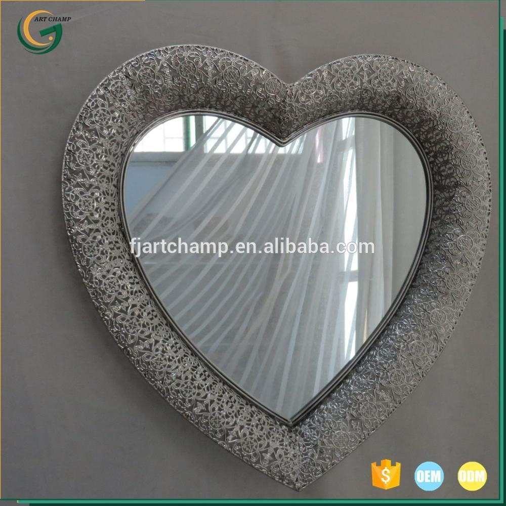 Heart Shaped Wall Mirrors, Heart Shaped Wall Mirrors Suppliers And Regarding Heart Shaped Metal Wall Art (Image 8 of 20)