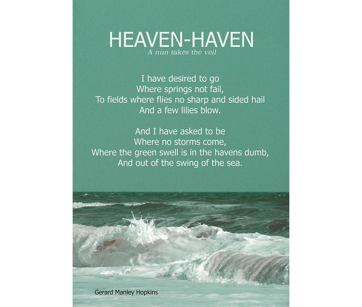 Heaven Haven Gerard Manley Hopkins Religious Poem Intended For Gerard Wall Art (View 16 of 20)