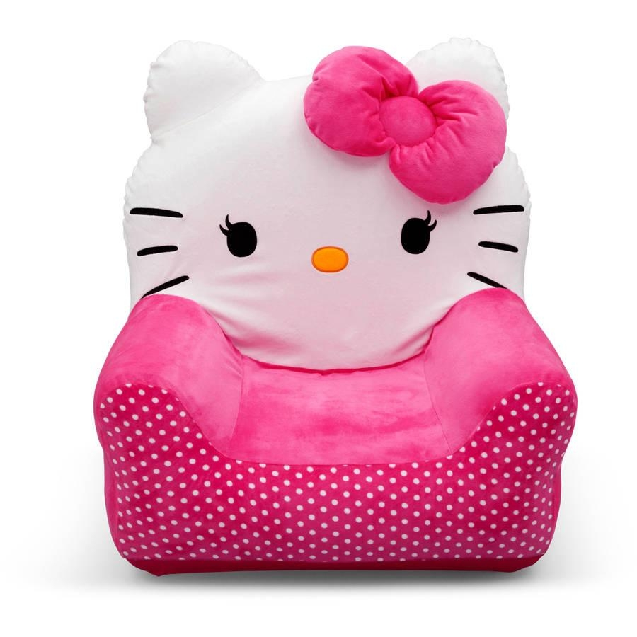 Hello Kitty Bows Toddler Piece Sofa Chair And Ottoman Set Toddler Inside Children Sofa Chairs (View 5 of 22)