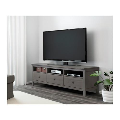 Hemnes Tv Unit – White Stain – Ikea With 2017 Tv Units Black (Image 12 of 20)
