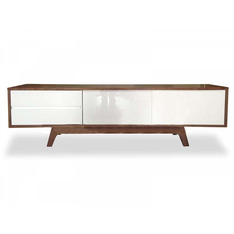 Hendrix Scandinavian Tv Entertainment Unit – Lowline | Walnut Within Most Current Tv Entertainment Unit (View 17 of 20)