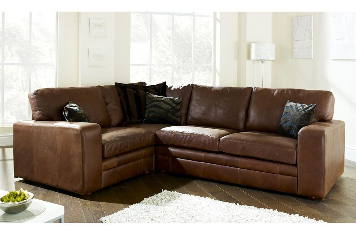 Henley 2 X 2 Seater Corner Sofa – Corner Sofas – Products Throughout Small Brown Leather Corner Sofas (Image 12 of 21)