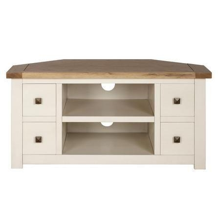 Henley Cream Corner Tv Unit | Dunelm | House | Pinterest | Corner Intended For 2017 Light Oak Corner Tv Cabinets (Image 9 of 20)