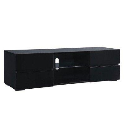 High Gloss Black Tv Stand W/ Storage Drawers Coaster Furniture Inside Latest High Gloss Tv Cabinets (Image 7 of 20)