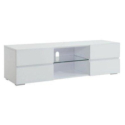 High Gloss White Tv Stand W/ Storage Drawers Coaster Furniture Pertaining To Current White Tv Stands (View 17 of 20)