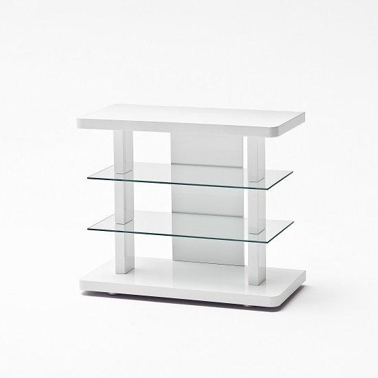High Gloss White Tv Stands (Image 5 of 20)