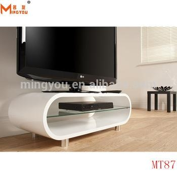 High Gloss Wood Oval Shape Tv Stand – Buy High Gloss White Tv Intended For Latest White Oval Tv Stands (Image 11 of 20)