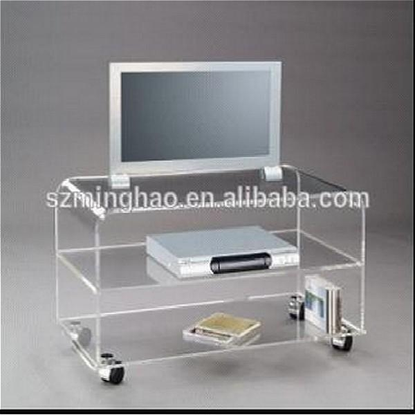 High Quality Transparent Acrylic Living Room Furniture Tv Stands Within Latest Clear Acrylic Tv Stands (Image 12 of 20)
