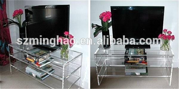High Quality Transparent Acrylic Living Room Furniture Tv Stands Within Most Popular Acrylic Tv Stands (Image 16 of 20)