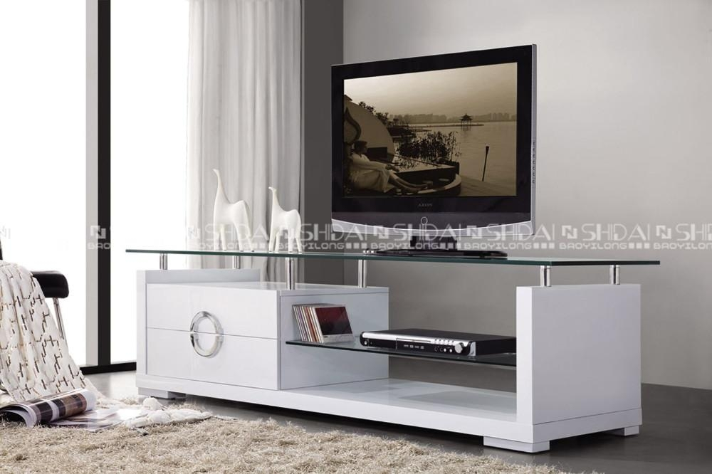 High Quanlity Glass Tv Stand / White Tv Stand / Modern Tv Stand E In Recent White Glass Tv Stands (Image 9 of 20)