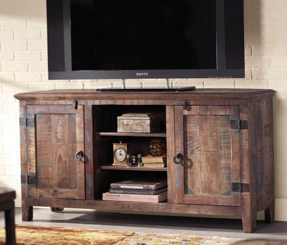Holbrook Tv Stand Add Interest And Rustic Appeal To Your Home Inside Most Recent Rustic Tv Cabinets (Image 9 of 20)
