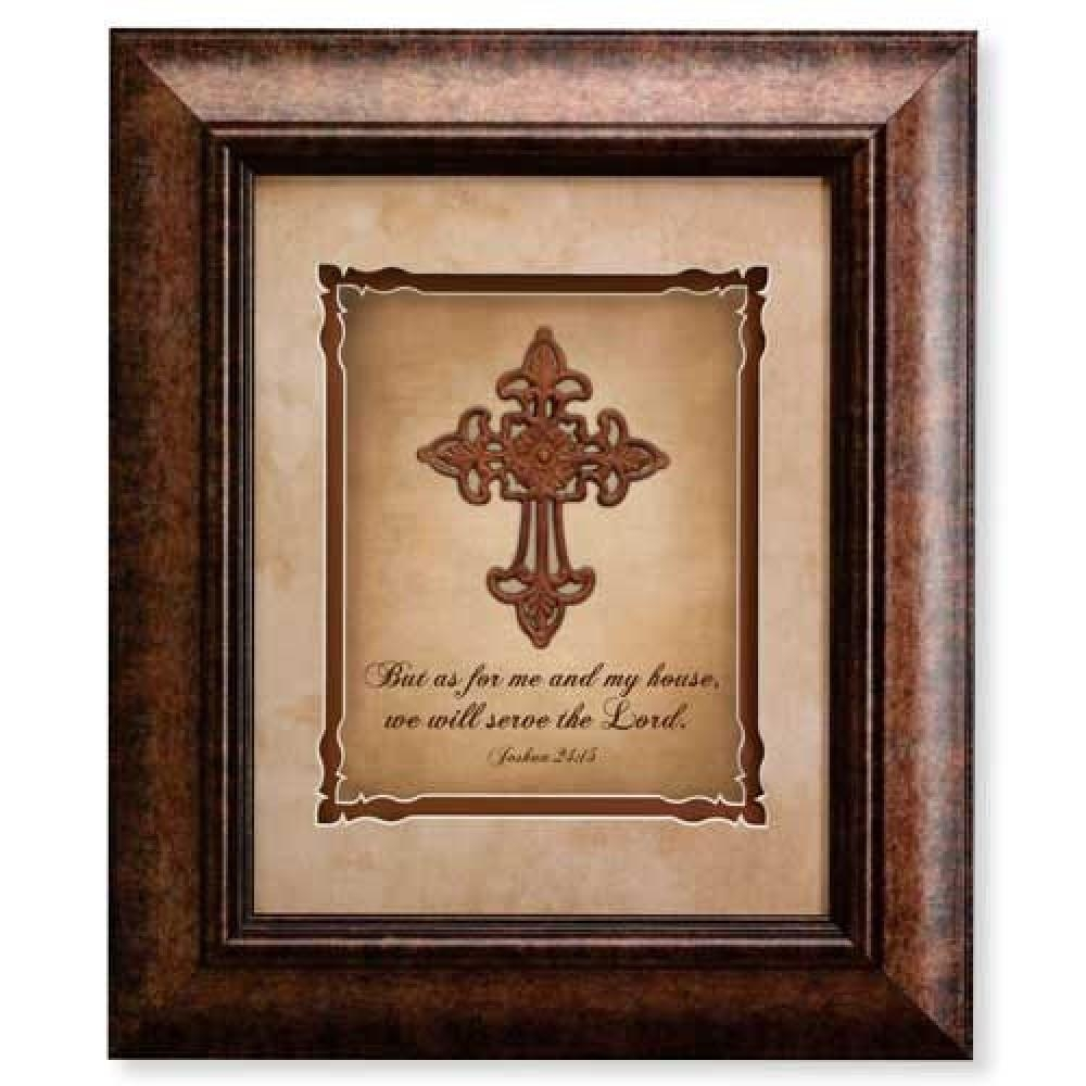 Home Accents, Decor, House Blessings : 16X19 Wall Decor – Serve With Regard To Christian Framed Wall Art (View 4 of 20)