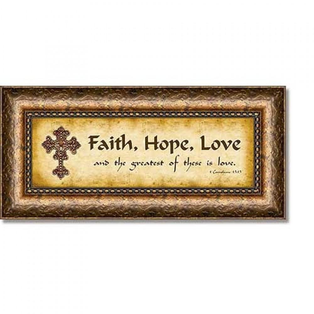 Home Accents, Decor, House Blessings : Faith, Hope, Love 1 Throughout 1 Corinthians 13 Wall Art (View 11 of 20)