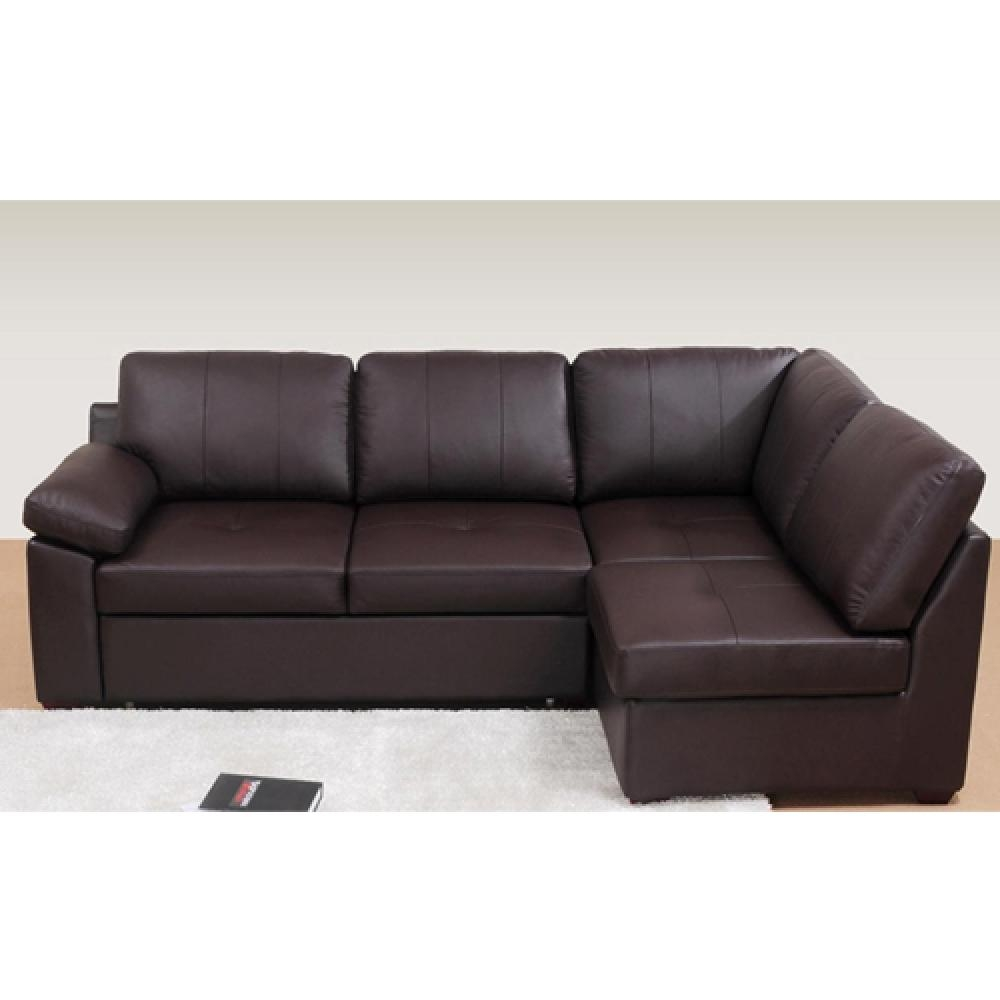 Home Corner Sofa Beds Boss – S3Net – Sectional Sofas Sale : S3Net With Regard To Small Brown Leather Corner Sofas (Image 13 of 21)