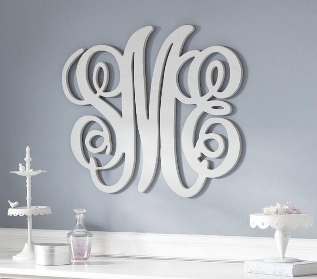 "Home Decor, 24"" Wooden Monogram, Wall Art, Initial Monogram Regarding Monogrammed Wall Art (Image 8 of 20)"