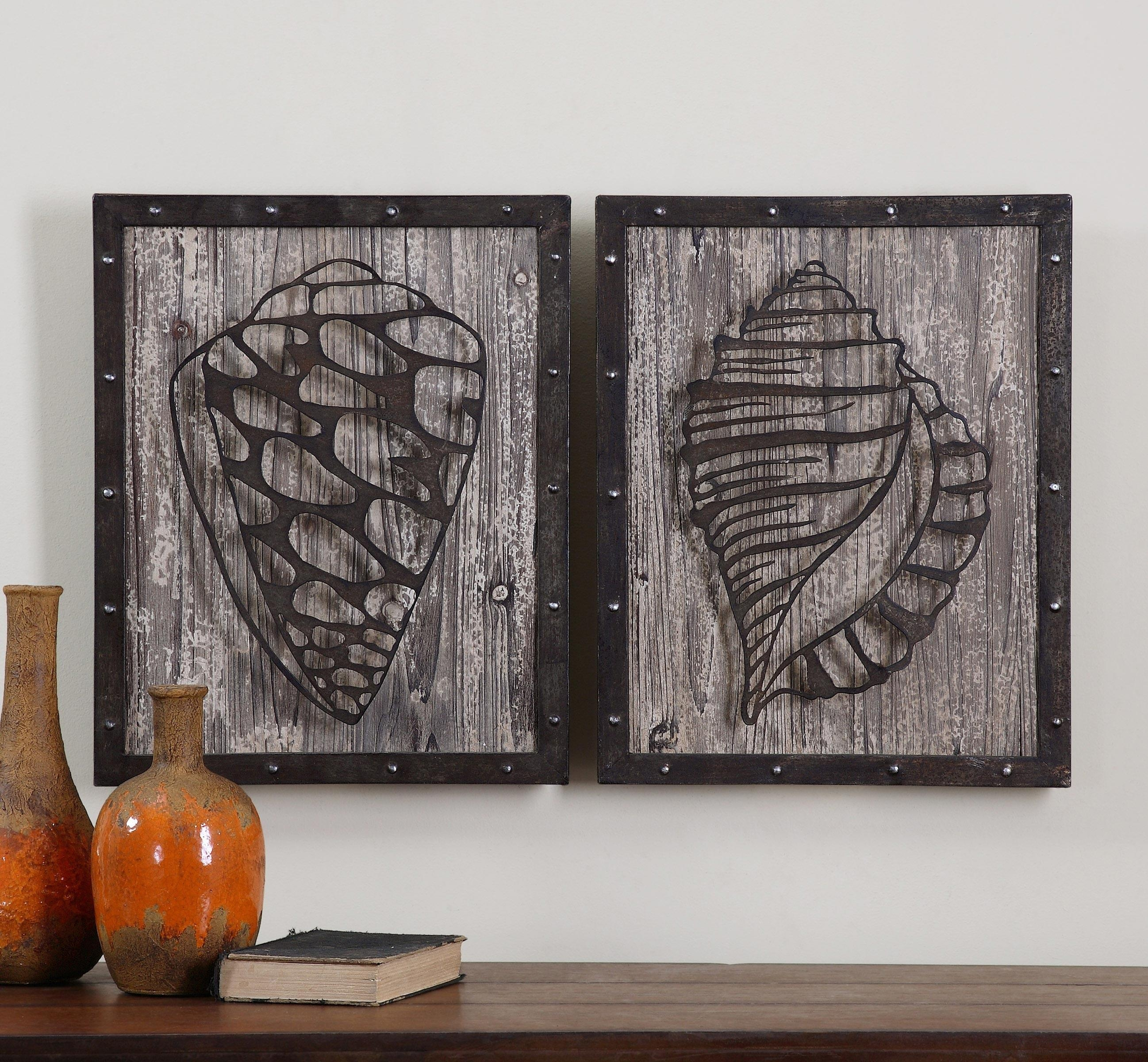 Home Design : Rustic Wood And Metal Wall Art Asian Large Rustic In Wood And Iron Wall Art (Image 7 of 20)