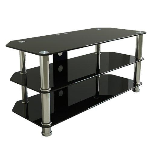 Home Elegant Homes With Black Glass Tv Stand – Furniture Depot For Most Recent Glass Tv Stands (Image 13 of 20)