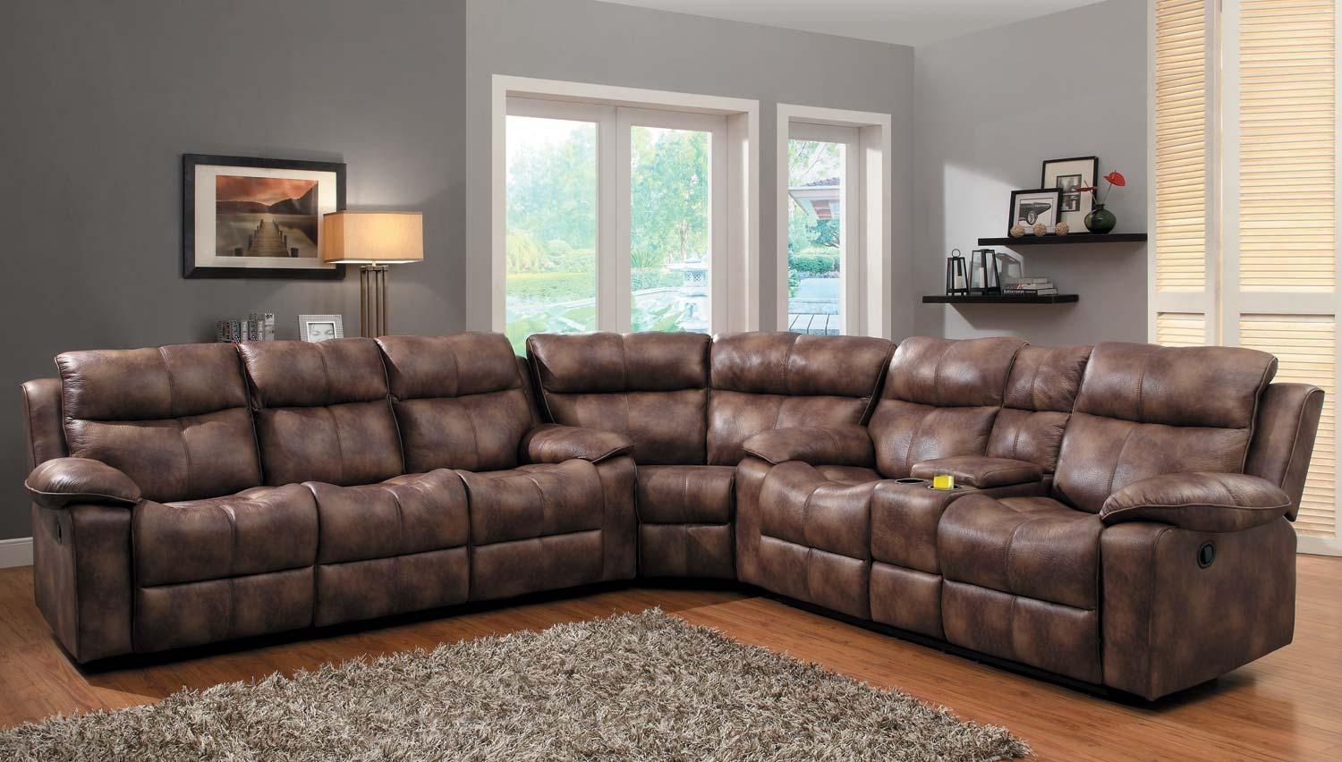 Homelegance Brooklyn Heights Reclining Sectional Sofa Set Throughout Recliner Sectional Sofas (Image 11 of 22)