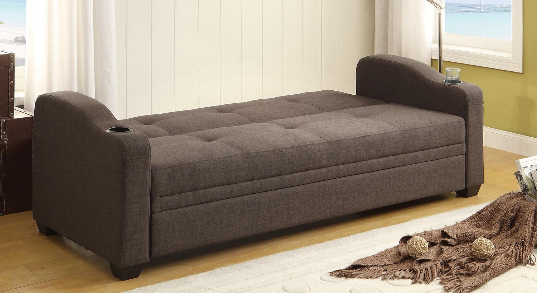 Homelegance Caffrey Elegant Lounger Sofa Bed – Dark Grey 4829Ln Regarding Sofa Lounger Beds (View 2 of 20)
