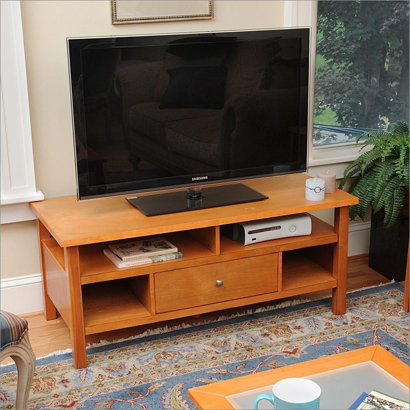 Honey Maple Flat Screen Or Tube Tv Stand With Drawerbay Shore In Most Current Maple Tv Stands (Photo 7 of 20)